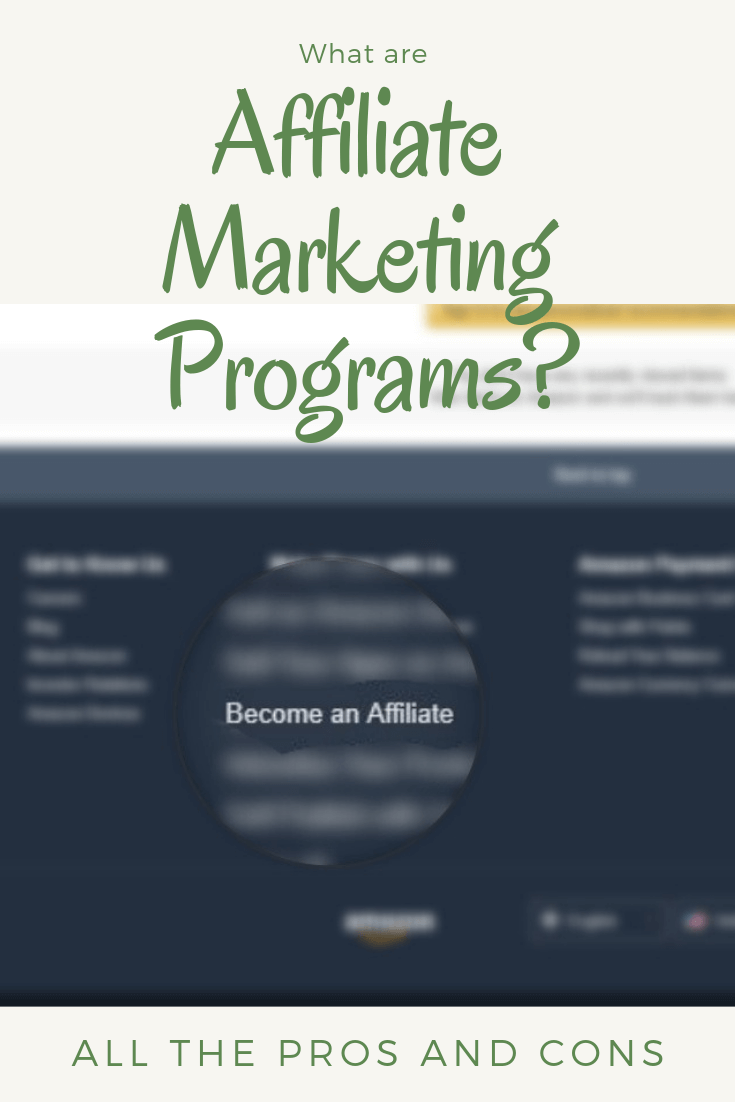 what is affiliate marketing programs about