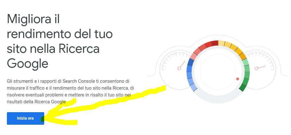 google search console dove iniziare