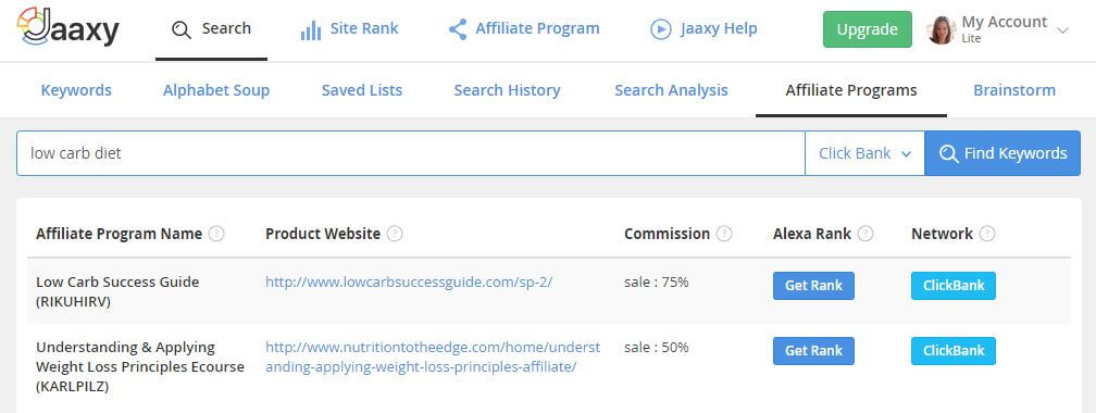 jaaxy-keyword-tool-features-affiliate-programs-search