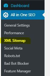 all in one seo- sitemaps - wordpress