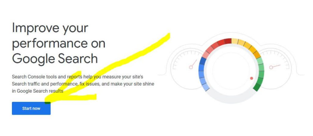google search console start now