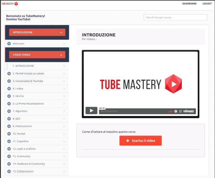 tubemastery video lezioni